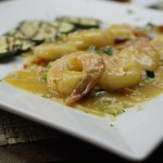 Our Signiture Dish of Jumbo Shrimp with a spicy limancello sauce
